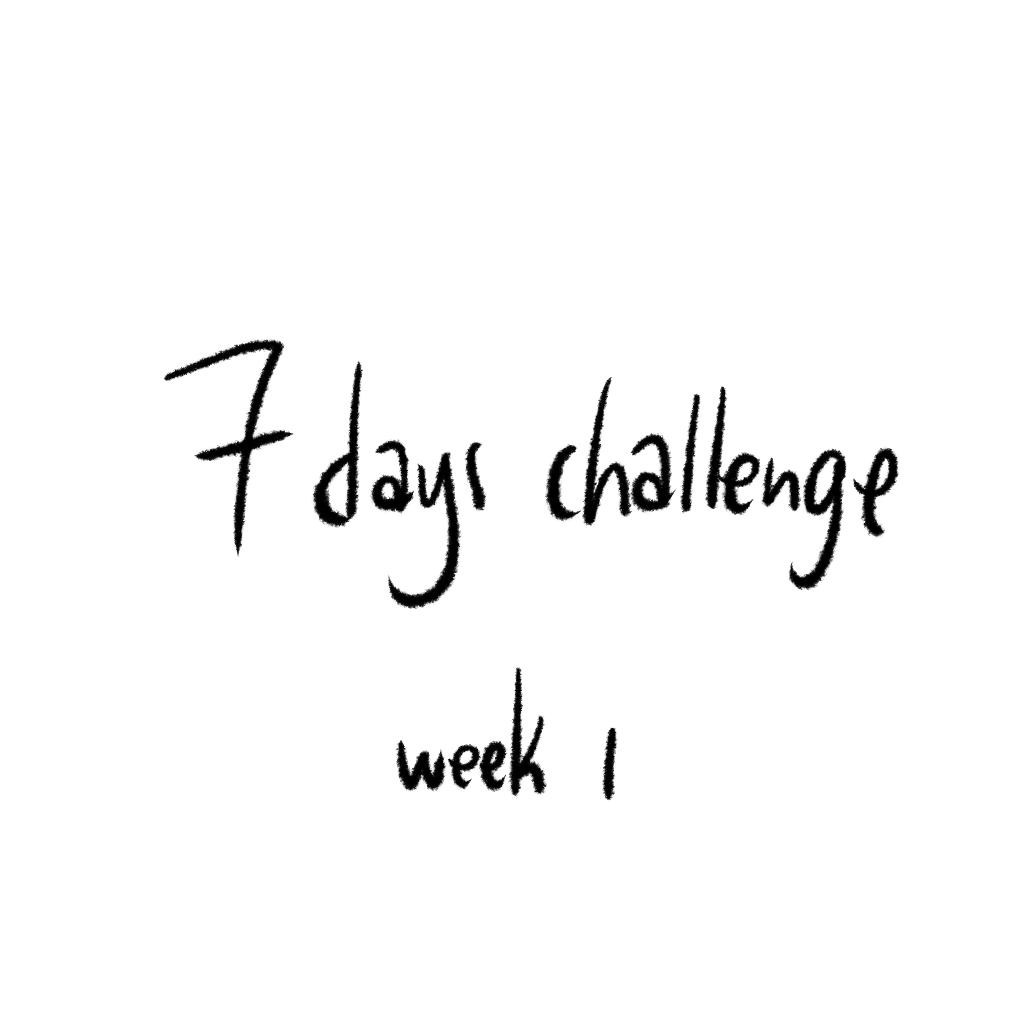 7 days challenge week 01